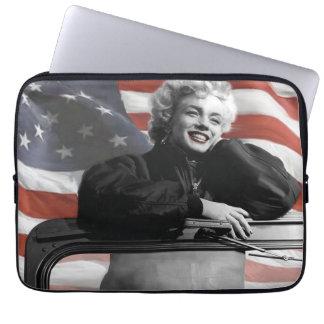 Patriotiska Marilyn Laptop Sleeve