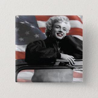 Patriotiska Marilyn Standard Kanpp Fyrkantig 5.1 Cm