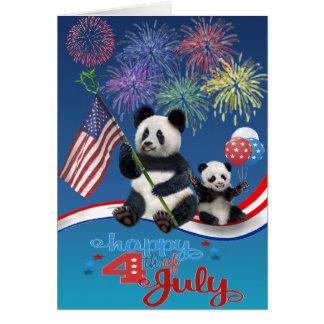 Patriotiska Pandas Hälsningskort