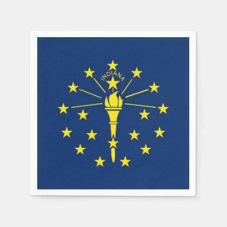 Patriotiska pappra servetter med flagga av Indiana