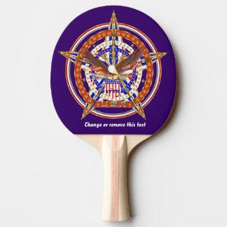 Patriotiska U.S. som matchar bakluckabord, Pingisracket