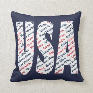 Patriotiska USA l5At frihetsringstars och stripes Kuddar