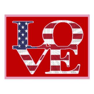 Patriotiska valentin dag vykort