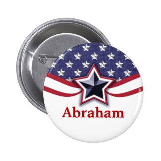 Patriotiska valnamn bricka för politisk regel standard knapp rund 5.7 cm