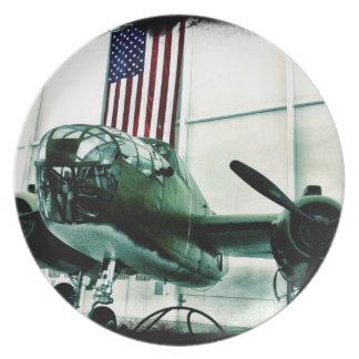 Patriotiskt flygplan för militär WWII med Tallrik