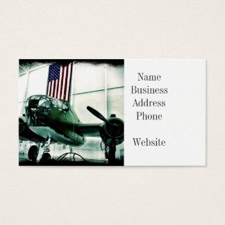 Patriotiskt flygplan för militär WWII med Visitkort