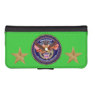 Patriotiskt fodral för plånbok för iPhone 5/5s för