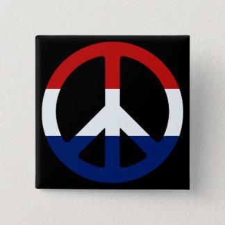 Patriotiskt fredsymbol standard kanpp fyrkantig 5.1 cm