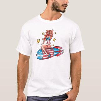 Patriotiskt klämma fast upp flicka tshirts