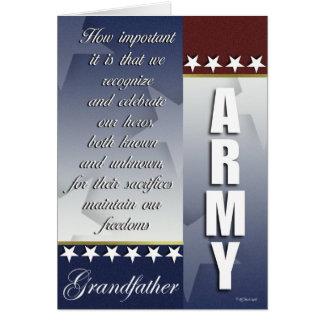 Patriotiskt kort för armésoldatservice för farfar