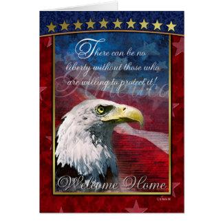 Patriotiskt kort för hälsning för