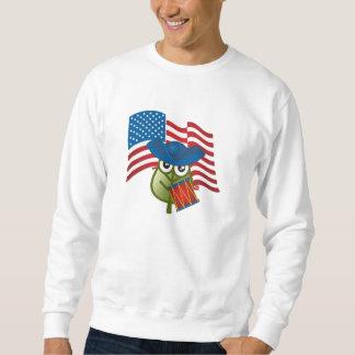 Patriotiskt löv lång ärmad tröja