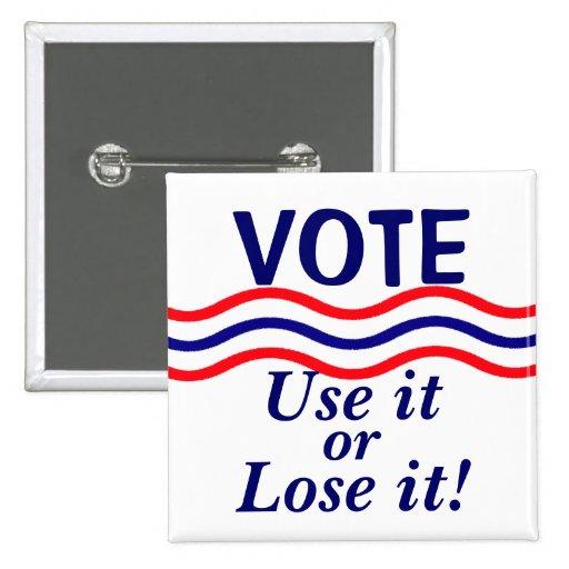Patriotiskt rösta politiskt knäppas knapp