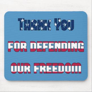 Patriotiskt tack för försvar av vår frihet mus mattor