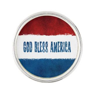Patriotiskt välsigna digAmerika slag klämmer fast Kavajnål