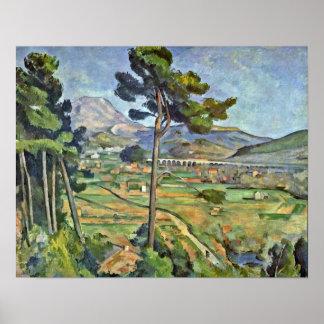 Paul Cezanne - landskap med viaducten Poster