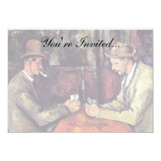 Paul Cezanne - målningen för kortspelarekonst 12,7 X 17,8 Cm Inbjudningskort