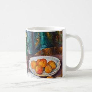 Paul Cezanne stilleben med körsbär och persikor Kaffemugg