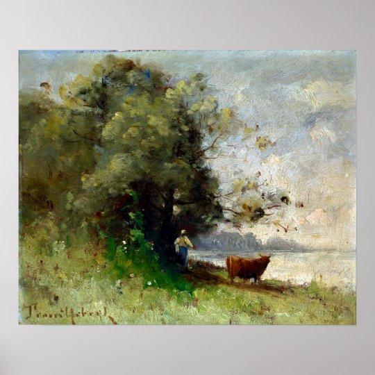 Paul-Désiré Trouillebert vid sjön Poster
