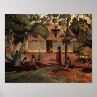 Paul Gauguin den stora trädaffischen Poster