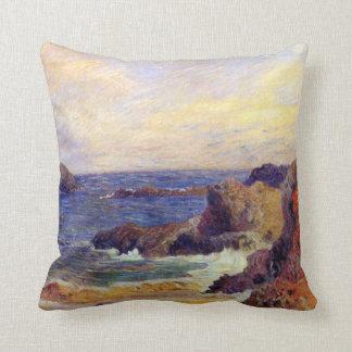 Paul Gauguin - stenig kustenkonstmålning Kudde