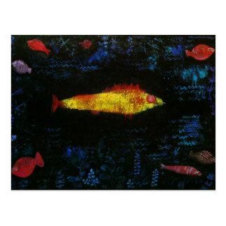 Paul Klee den guld- fisken Goldfisch Fische för Vykort