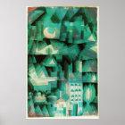 Paul Klee dröm- stadsaffisch Poster