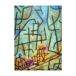 Paul Klee erövring av berg Canvastryck