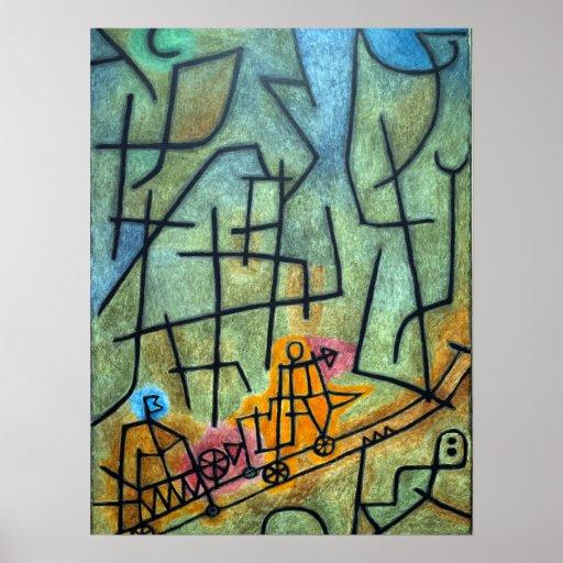 Paul Klee erövring av berg Poster