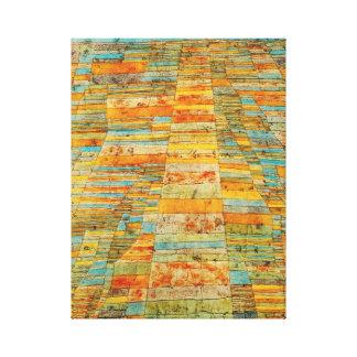 Paul Klee huvudväg- och Bywaysaffisch Canvastryck