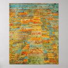 Paul Klee huvudväg- och Bywaysaffisch Poster