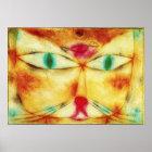 Paul Klee katt och fågelaffisch Poster