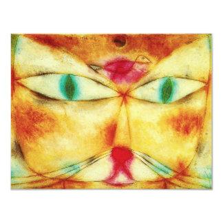 Paul Klee katt- och fågelinbjudningar 10,8 X 14 Cm Inbjudningskort