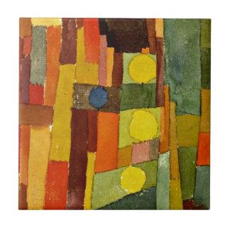 Paul Klee konst: I stilen av Kairouan Kakelplatta