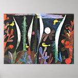 Paul Klee konst: Landskap med gula fåglar Poster