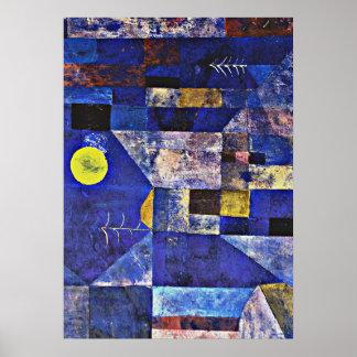 Paul Klee konstverk, månsken Poster