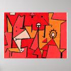 Paul Klee konstverk, värmer Poster