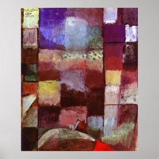 Paul Klee på ett motiv från en Hamamet Poster