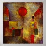 Paul Klee röd ballongaffisch Poster