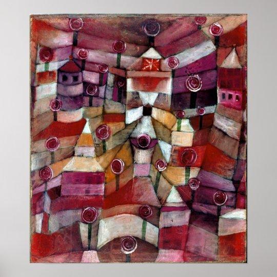 Paul Klee roträdgård Poster