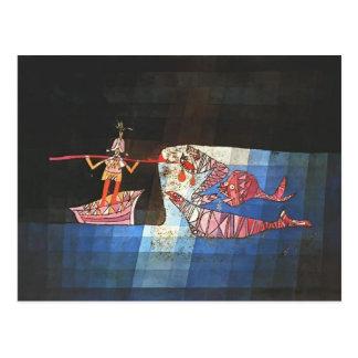 Paul Klee- stridplats från den komiska `en Vykort