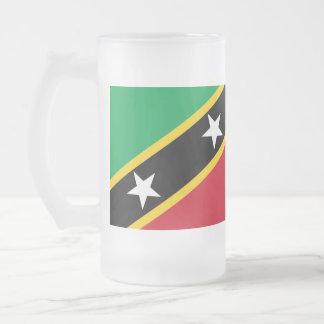 "Paul McGehee ""St. Kitts & Nevis sjunker"" ölmuggen Frostat Ölglas"
