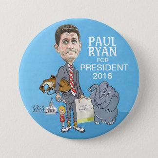 Paul Ryan president 2016 Mellanstor Knapp Rund 7.6 Cm