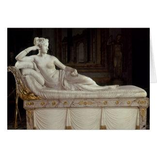 Pauline Bonaparte som triumfera Venus, c.1805-08 Hälsningskort