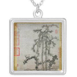 Paviljong under träden silverpläterat halsband