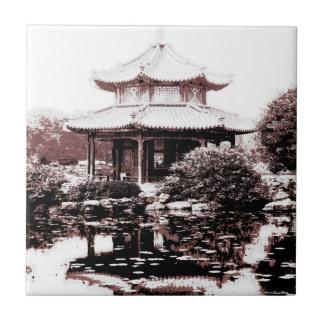 Paviljongen belägger med tegel liten kakelplatta