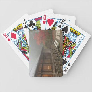 Paviljongen på den Portland japanträdgården Spelkort