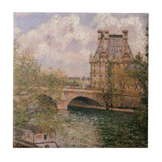 Pavillionen de Flore och den Pont royalet Kakelplatta