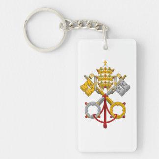 Påvligt försegla Keychain Nyckelring