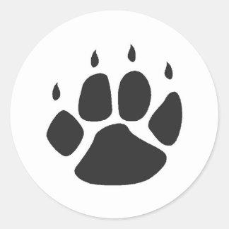 pawprintklistermärkear runt klistermärke
